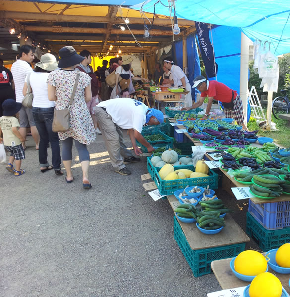 Cycling in Japan - Farmer's Market