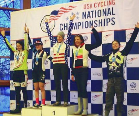 Womens Single Speed podium - 2013 US Cyclocross Nationals