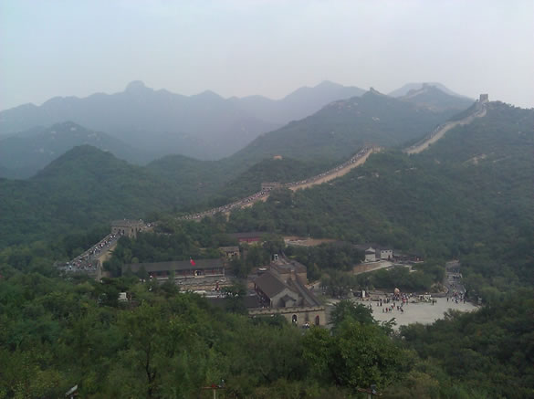 Just 15 minutes south of the course sits the Great Wall of China