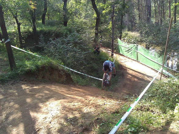 steep downhill on Qiansen cyclocross course