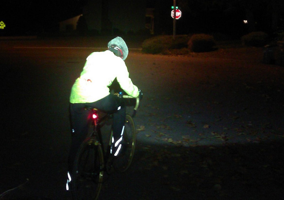 Lighting for winter bicycle commuting