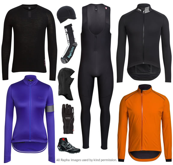 Winter cycling clothing layers